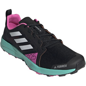 adidas TERREX Speed Flow Trail Running Shoes Men, core black/crystal white/screaming pink